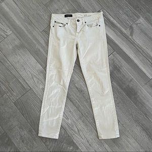 J. Crew Cream Toothpick Ankle Skinny Jeans